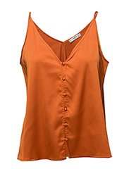 Satin lace top - ORANGE