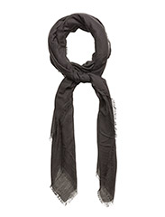 Frayed edge scarf - BLACK