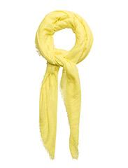 Frayed edge scarf - YELLOW