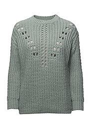 Openwork knit sweater - TURQUOISE - AQUA