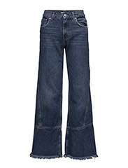 Frayed relaxed jeans - OPEN BLUE