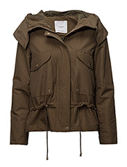 Pockets cotton parka - BEIGE - KHAKI