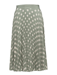 Printed pleated skirt - GREEN