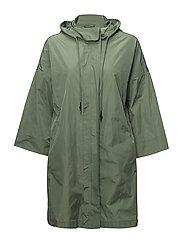 Hooded water-repellent parka - MEDIUM GREEN