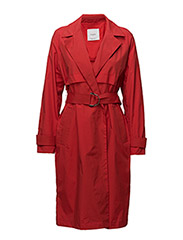 Classic belted trench - RED