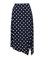 Polka-dot asymetric skirt - MEDIUM BLUE