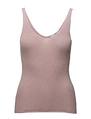 Metallic knit top - LT-PASTEL PURPLE