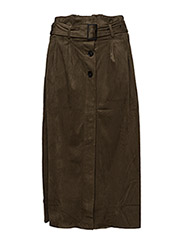 Buttoned midi skirt - BEIGE - KHAKI