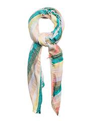 Metallic detail scarf - GREEN