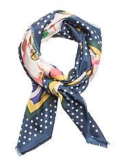 Floral print scarf - LIGHT BEIGE