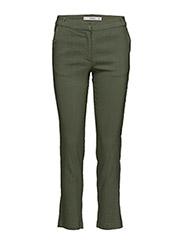 Straight linen-blend trousers - BEIGE - KHAKI