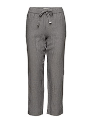 Bow linen trousers - GREY