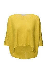 Ramie sweater - YELLOW