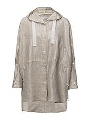 Oversize linen jacket - LIGHT BEIGE