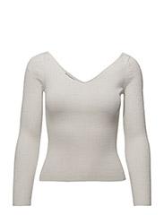 Fine-knit sweater - WHITE