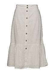 Openwork details skirt - NATURAL WHITE