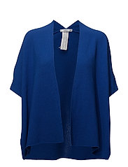 Textured knit cardigan - MEDIUM BLUE