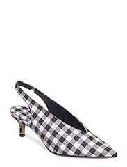 Slingback checked shoes - BLACK