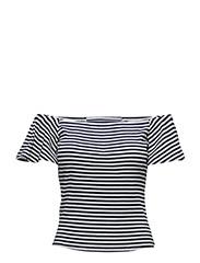 Off-shoulder t-shirt - NAVY