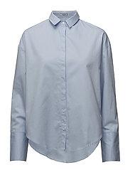 Pearls cotton shirt - LT-PASTEL BLUE