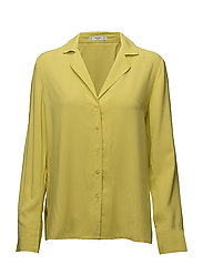 Buttoned flowy shirt - BRIGHT YELLOW