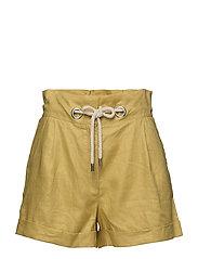 Linen shorts - BRIGHT YELLOW