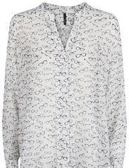 Glasses print shirt - Natural white