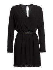Pleated skirt dress - Black