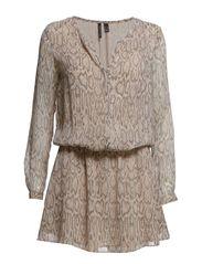 Snake print dress - Light beige