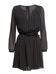 Turtle print dress - Black
