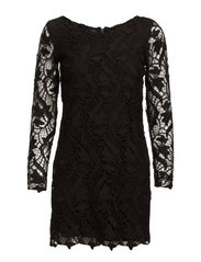 Guipure dress - Black