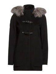 Detachable hood coat - Black