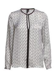 Turtle print blouse - Natural white