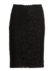 Guipure pencil skirt - Black