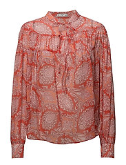 Boho paisley blouse - ORANGE