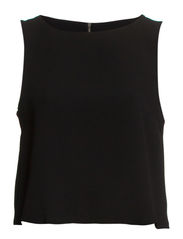 Cropped cut-out top - Black