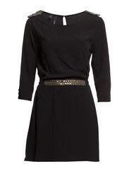 Bead detail dress - Black