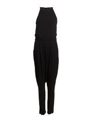 Halter long jumpsuit - Black