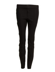 Cotton slim-fit trousers - Black