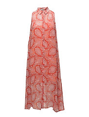Flowy paisley dress - ORANGE