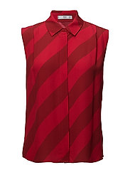 Flowy striped blouse - RED