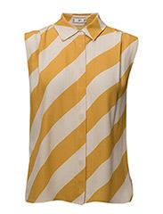 Flowy striped blouse - YELLOW