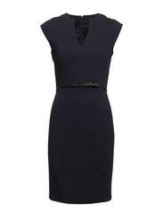 Skinny belt dress - Navy