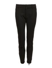 Chalk-stripe trousers - Dark grey