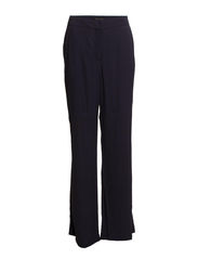 Crepe palazzo trousers - Navy