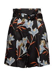 Floral print shorts - BLACK