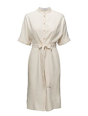 Bow soft dress - LIGHT BEIGE