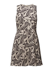 Flowy printed dress - BLACK