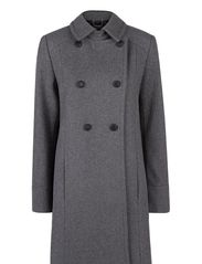 Wool-blend convertible coat - Medium grey