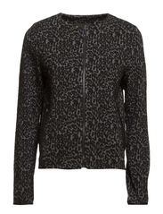 Leopard pattern jacket - Medium grey